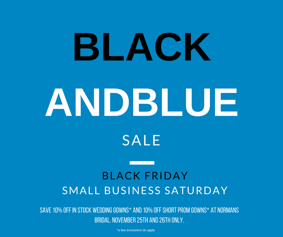 Black and Blue Sale